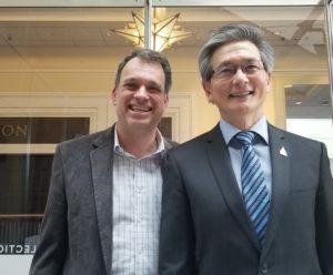 Glenn with David Kong