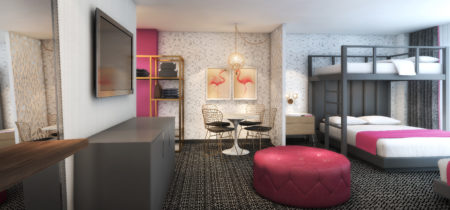Flamingo Las Vegas_Bunk Bed Suite Rendering_Bedroom_Final